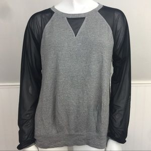 Lucy Be Still Long Sleeve Mesh Relaxed Fit NWT